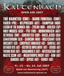 Kaltenbach Open Air 2007 Poster